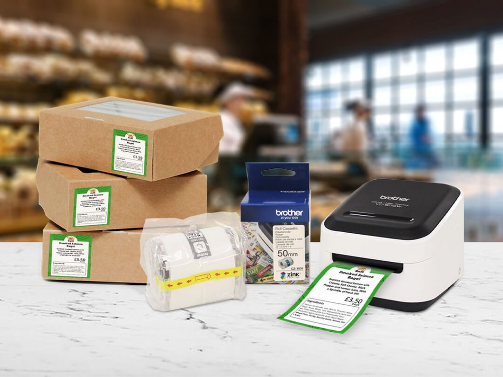 Brother colour label printer for food allergen labelling