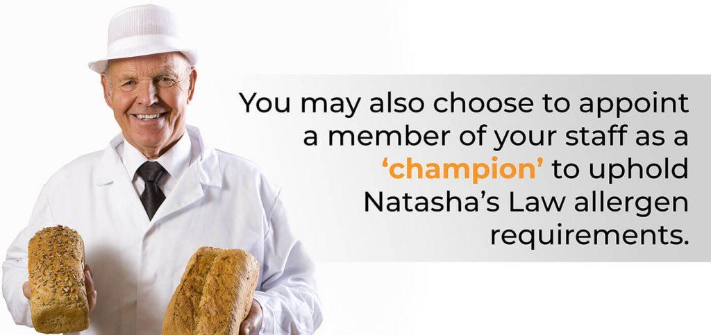 Natasha's Law enforcement champion