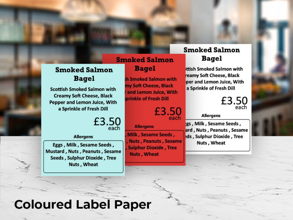 Brother coloured label paper with black print