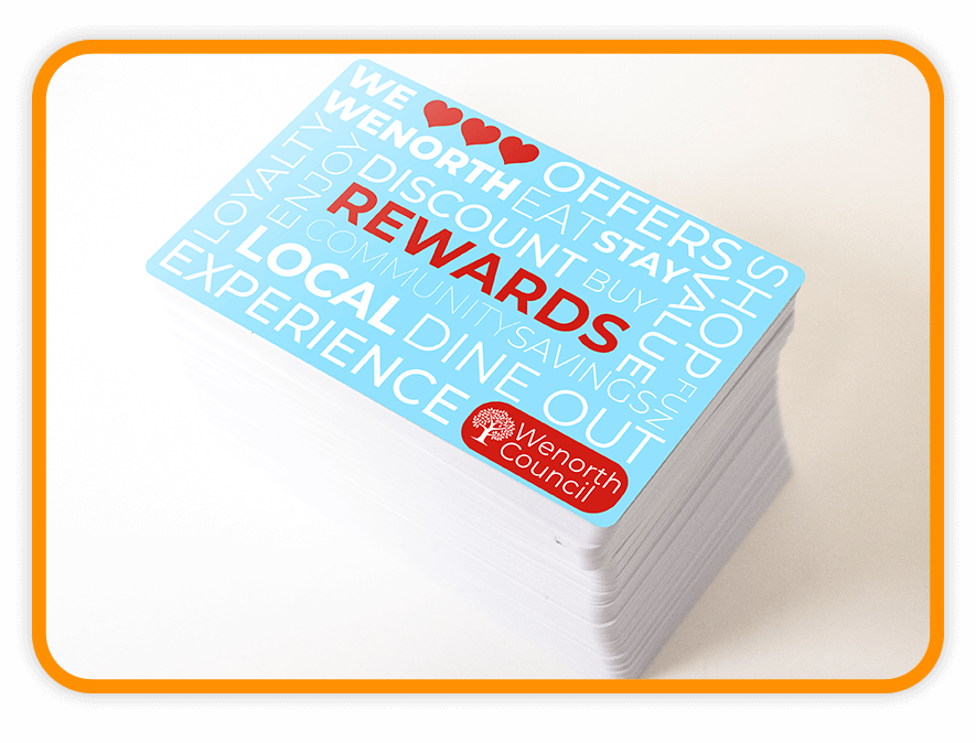 Town loyalty card stack