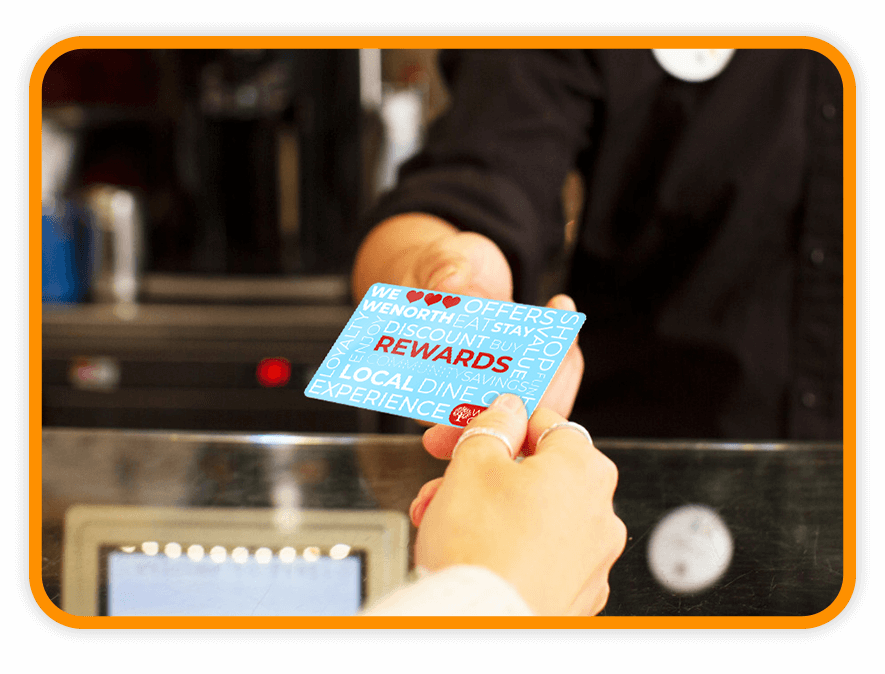 Town loyalty card transaction