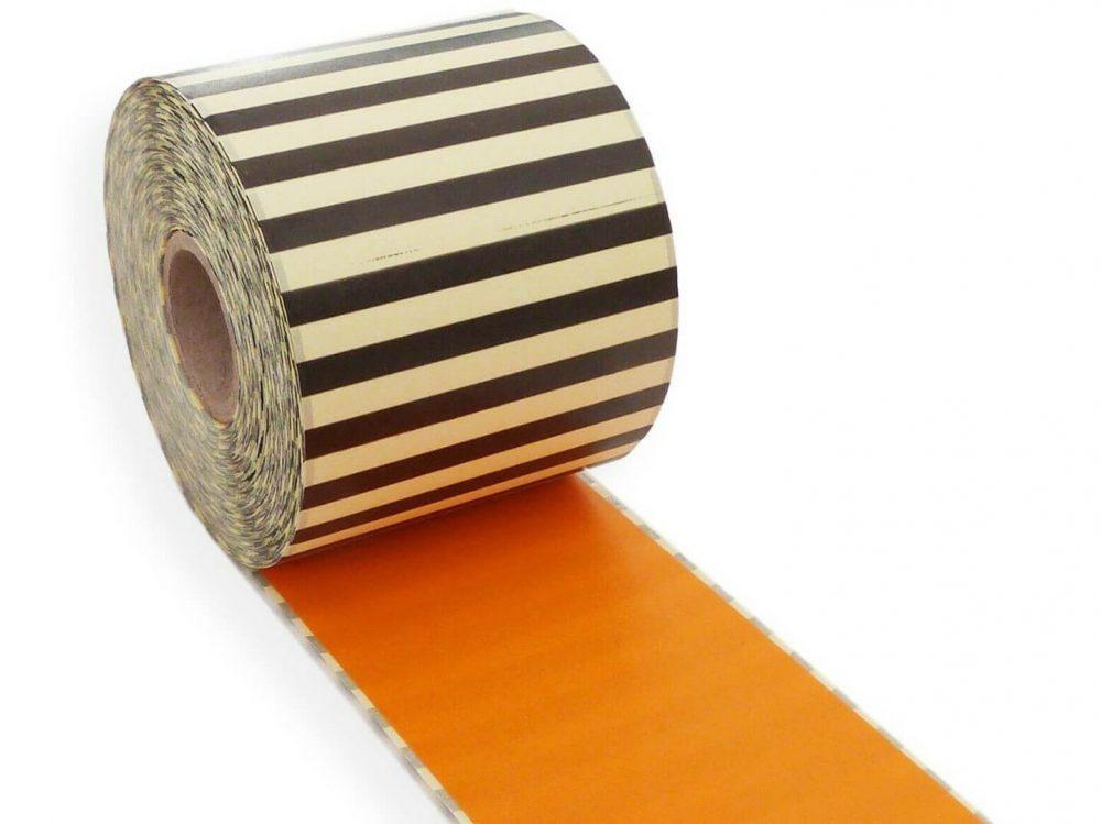 Orange 62mm x 30m continuous label