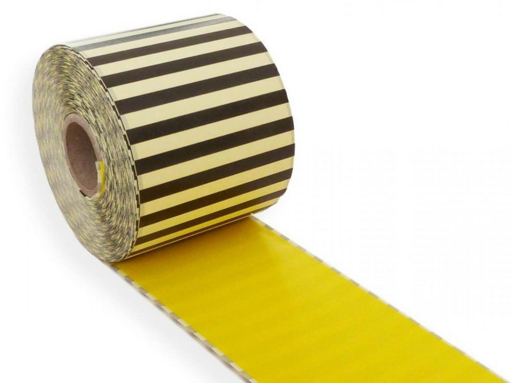 Yellow 62mm x 30m continuous label
