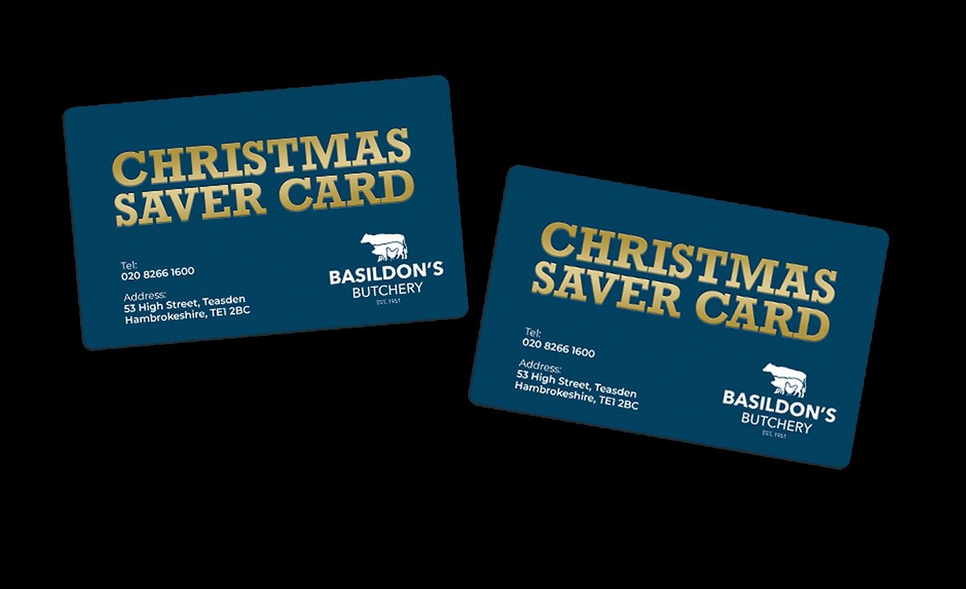 Christmas Savers Card for butchers